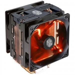 Cooler Master Hyper 212 LED Turbo Noir Ventilateur pour processeur (pour socket Intel 775/1150/1151/1155/1156/2011/2011-3/2066 et AMD FM1/FM2/FM2+/AMD2 /AM3/AM3 /AM4)