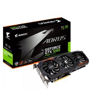 Gigabyte Aorus GeForce GTX 1060 6G 6144 Mo Dual-DVI/HDMI/Tri DisplayPort - PCI Express (NVIDIA GeForce avec CUDA GTX 1060)