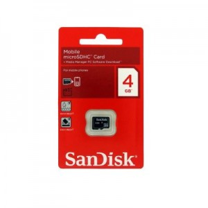 MC MICRO SD SANDISK 4GB CLAS 4