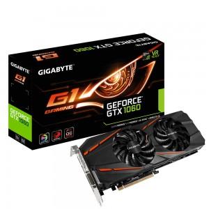 Gigabyte GeForce GTX 1060 G1 Gaming 6144 Mo DVI/HDMI/Tri DisplayPort - PCI Express (NVIDIA GeForce avec CUDA GTX 1060)