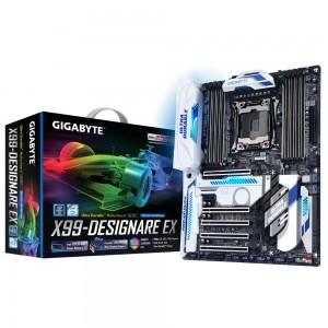 Gigabyte GA-X99-Designare EX Carte mère ATX Socket 2011-3 Intel X99 Express - DDR4 - SATA 6Gb/s - U.2 - M.2 - USB 3.1 - 5x PCI-Express 3.0 16x - Wi-Fi AC et Bluetooth 4.2 - lumineuse