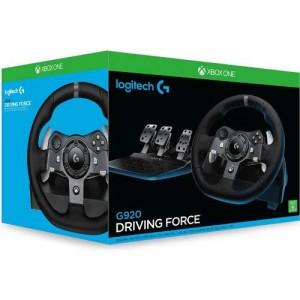 Logitech G920 Driving Force Racing Wheel Volant + Pédalier (pour PC/ Xbox One) + Boite à 6 vitesses pour Logitech G29 et G920