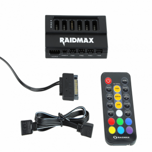RAIDMAX MX-642RH RGB FAN SPEED LED CONTROLLER HUB