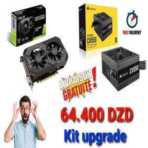 KIT UPGRADE PC ASUS TUF GTX 1660 4GB OC + PSU CORSAIR CV550 80+ BRONZE