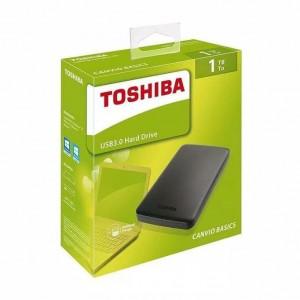 Disque dur Toshiba Canvio Basics - 1to USB3.0 - Noir  HDD-EXTERNE
