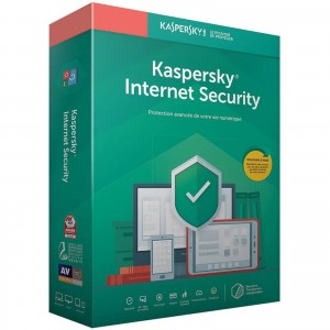 Kaspersky Internet Security 2020 - Licence 3 postes 1 an Suite de sécurité Internet - Licence 1 an 3 postes (français, Windows, Mac, Android, iPhone et iPad)