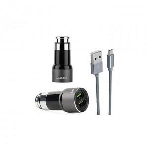 Ldnio Chargeur Auto 2 USB - C302 - Noir & Gris