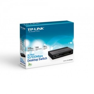 TP-LINK  SWITCH  16 PORTS 10/100 Mbps TL-SF1016D