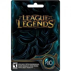 Carte prépayée 1580RP (League of Legends)