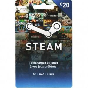 Carte Steam 20€