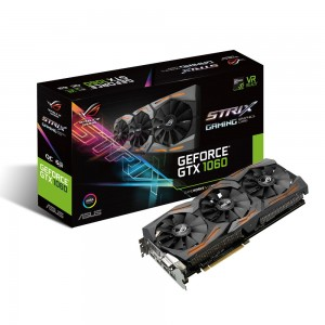 ASUS ROG STRIX-GTX1060-O6G-GAMING - GeForce GTX 1060 6144 Mo DVI/Dual HDMI/Dual DisplayPort - PCI Express (NVIDIA GeForce avec CUDA GTX 1060)