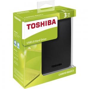 Disque dur Toshiba Canvio Basics - 3To USB3.0 - Noir (HDTB330EK3CA)